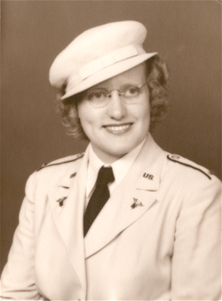 Helen Vos in the Nurse Corps